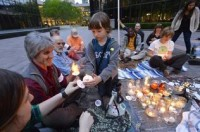 Charlotte Observer: Vigil for Mother Earth (April 22, 2014)