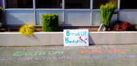 Olympia, WA: Chalking Dissent of Bank of America!