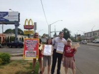 KLCC / NPR: Protesters Demand Living Wage for Fast Food Workers (May 15, 2014)