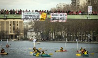 VIDEO: Historic Kayak Action demands Indigenous Peoples Rights in Paris Climate Accord